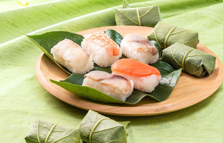 新緑 柿の葉寿司 5色10個入