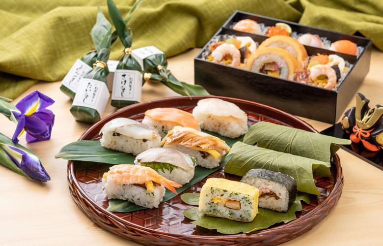 笹粽寿司と柏寿司盛合せ 2段