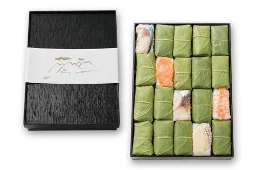 新緑 柿の葉寿司 5色20個入