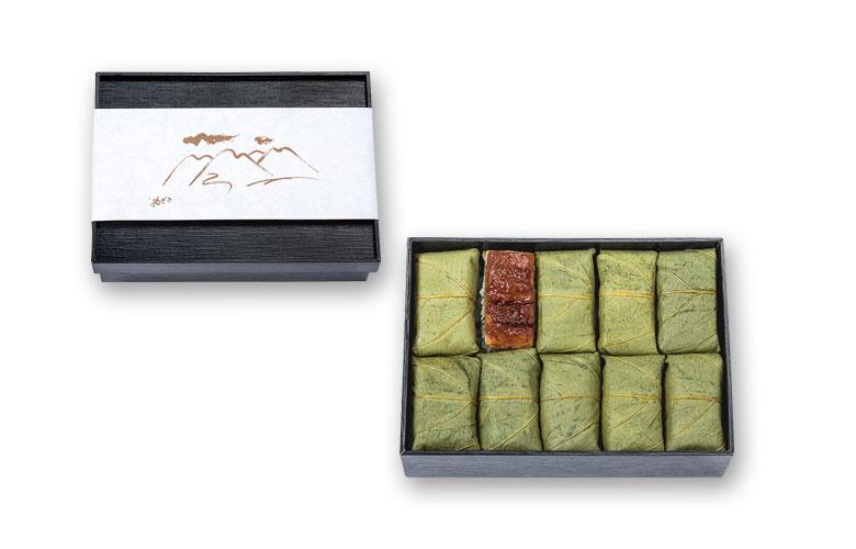 碾茶あなごの柿の葉寿司 10個入