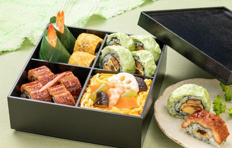 嫩草の寿司 2段